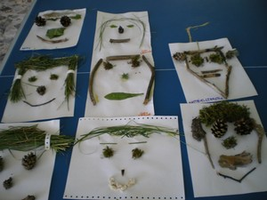 Land art visages